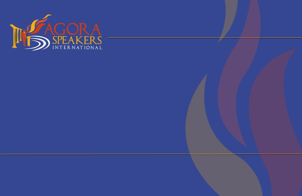 agora speakers international